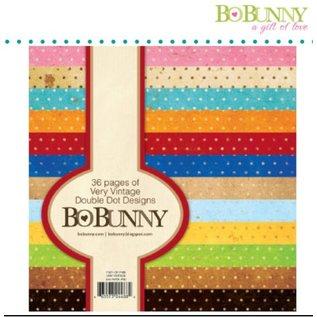 BO BUNNY Aktion! Designerblock mit Punkten in Vintage farbe