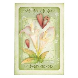 Leane Creatief - Lea'bilities und By Lene Estampillage et gaufrage pochoir: Fleur, Cala