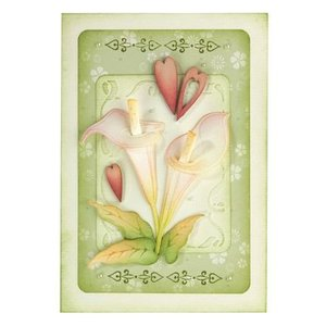 Leane Creatief - Lea'bilities und By Lene Stempelen en embossing stencil: Flower, Cala