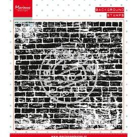 Marianne Design tampons transparents: le mur de pierres de fond