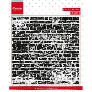 Marianne Design I timbri trasparenti: la parete di fondo pietre