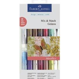 colori gelati Metallics 12 + 1 + 2 spugna pennello