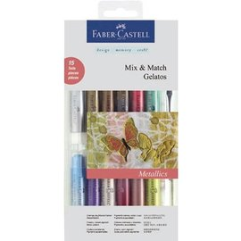 Gelatos Metallics colors 12 + 1 + 2 brush sponge