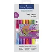 FARBE / STEMPELKISSEN Gelatos Set mit 12 Farben + 1 Pinsel + 2 Schwämmchen
