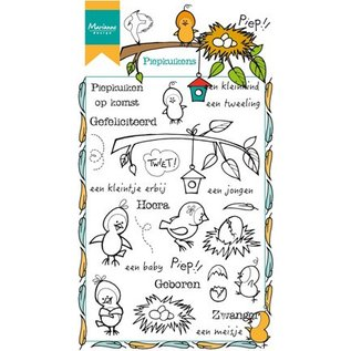 Marianne Design timbro trasparente: i pulcini Peep
