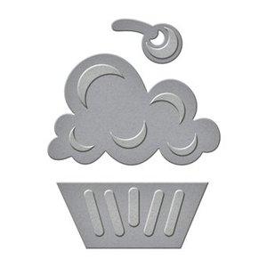 Spellbinders und Rayher Stanz- und Prägeschablone: Cupcake