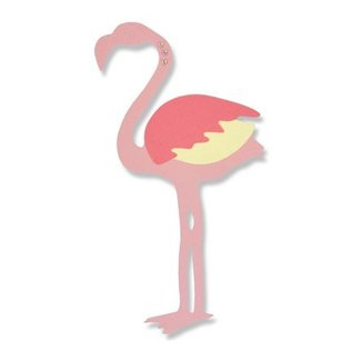 Sizzix Ponsen en embossing sjabloon: Flamingo