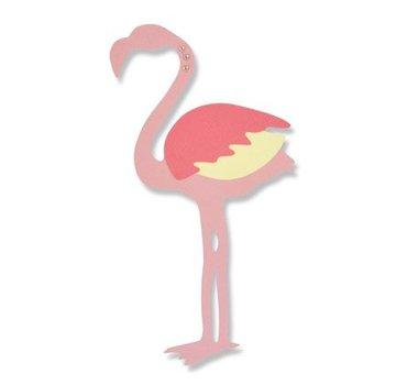 Sizzix Ponsen en embossing sjabloon: Flamingo