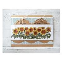 Transparent Stempel: Sonneblumen