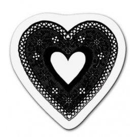 Cart-Us Transparent Stempel: Spitze Herz