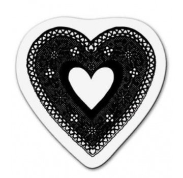 Cart-Us Transparant stempel: Het hart van het kant