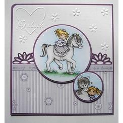 timbre Transparent: Mon petit cheval