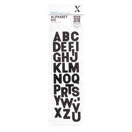 Docrafts / Papermania / Urban Ponsen en embossing sjabloon: Alfabet - brieven