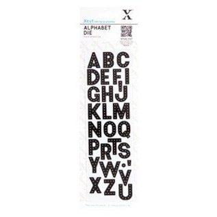 Docrafts / Papermania / Urban Troquelado y estampado en relieve plantilla: las letras del alfabeto -