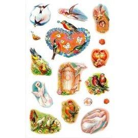 STICKER / AUTOCOLLANT creative Sticker, Frühlingsvögel
