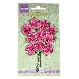 Marianne Design Flor de papel, claveles, rosa brillante