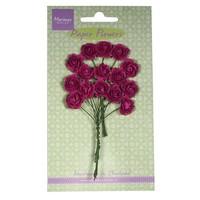 Paper Flower, Rosen, dunkel pink