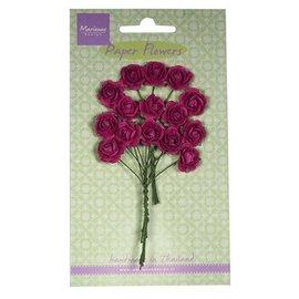 Marianne Design Paper Flower, roser, mørk rosa
