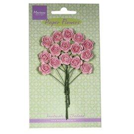 Marianne Design Bloem van het document, rozen, helder roze