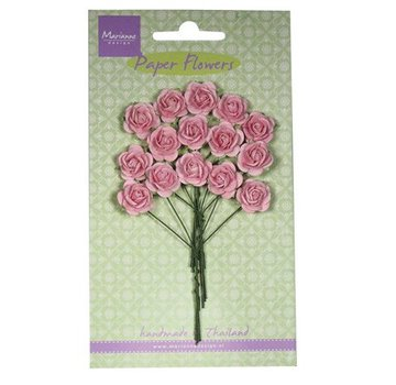 Marianne Design Paper Flower, roser, lys rosa