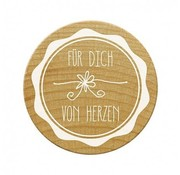 Stempel / Stamp: Holz / Wood Woodies stamp for you from the heart