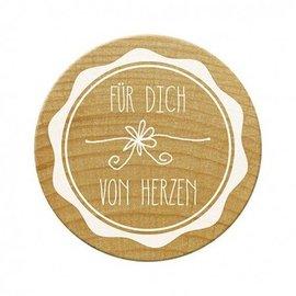 Stempel / Stamp: Holz / Wood Woodies sello para usted desde el corazón