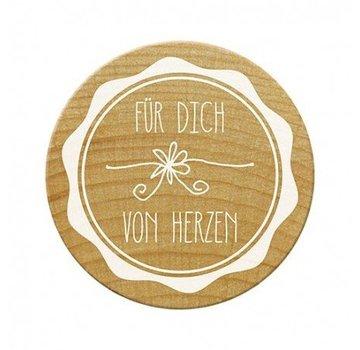 Stempel / Stamp: Holz / Wood Woodies timbre pour vous du coeur