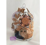 Crafter's Companion Transparent stamp set: owl, leaves, flowers and a clock