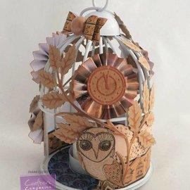 Crafter's Companion Transparent stempel sæt: ugle, blade, blomster og et ur