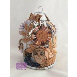 Crafter's Companion conjunto transparente sello de búho, hojas, flores y un reloj