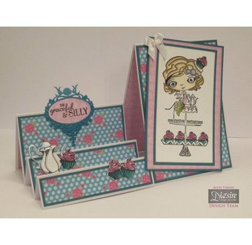 Crafter's Companion Stamp + rubinetto di base Mappa: Ragazza con Cupcake