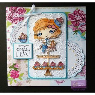 Crafter's Companion Stamp + base tap Map: Girl with Cupcake