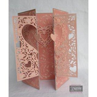 Die'sire Ponsen en embossing sjabloon: filigraan frame van het hart