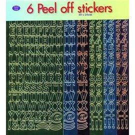 STICKER / AUTOCOLLANT Sticker set: Buchstaben und Zahlen!