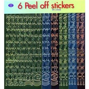 Sticker Autocollant réglé: lettres et chiffres!