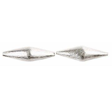 Schmuck Gestalten / Jewellery art 2 esclusivi a forma di diamante perla, dimensioni 45x45x15 mm