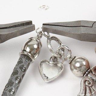 Schmuck Gestalten / Jewellery art 10 cap, afmeting 11x20 mm, antiek zilver
