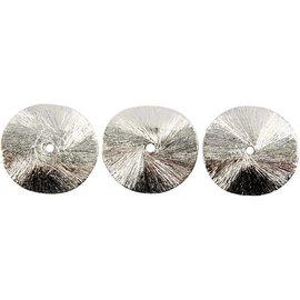 Schmuck Gestalten / Jewellery art 3 exclusivos de disco arqueado, tamaño de 10x10x1 mm