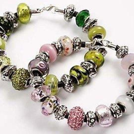 Schmuck Gestalten / Jewellery art 24 diverse perle di vetro