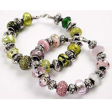 Schmuck Gestalten / Jewellery art 24 verschiedene Glasperlen