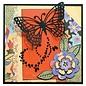 Marianne Design Ponsen en embossing sjabloon: Butterfly