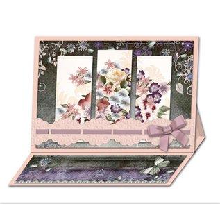 BASTELSETS / CRAFT KITS Bastelset: Triptychonkarten (trifold card) with flowers
