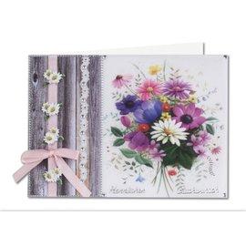 BASTELSETS / CRAFT KITS Fleurs de printemps sur papier transparent: de Bastelset