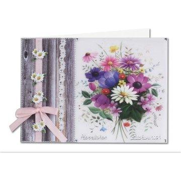 BASTELSETS / CRAFT KITS Bastelset: Blumen auf transparentpapier