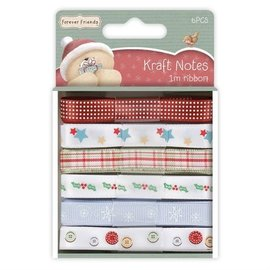 Forever Friends 6 X ruban 1m satin, Forever Friends