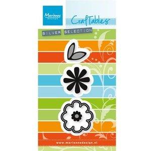 Marianne Design Estampillage et pochoir gaufrage: set Flower: Doux