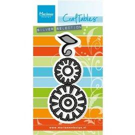 Marianne Design Stempling og prægning stencil: Flower sæt: Funky