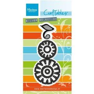 Marianne Design Estampillage et gaufrage pochoir: set Flower: Funky
