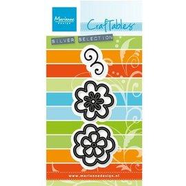 Marianne Design Stempling og prægning stencil: Flower sæt: Fancy