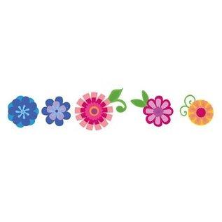 Marianne Design Stempelen en embossing stencil: Flower set: Fancy
